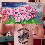 Rosie customised canvas.