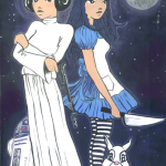 Leia & Alice personalised canvas.